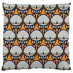 Sitpersian Cat Orange Large Cushion Case (One Side)