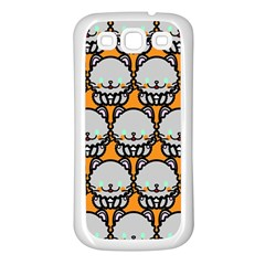 Sitpersian Cat Orange Samsung Galaxy S3 Back Case (White)