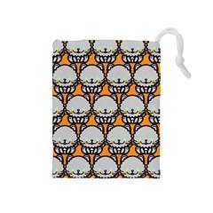 Sitpersian Cat Orange Drawstring Pouches (Medium)