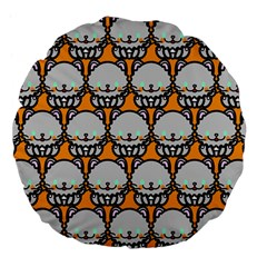 Sitpersian Cat Orange Large 18  Premium Flano Round Cushions