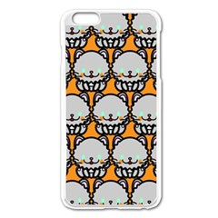 Sitpersian Cat Orange Apple iPhone 6 Plus/6S Plus Enamel White Case
