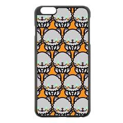 Sitpersian Cat Orange Apple iPhone 6 Plus/6S Plus Black Enamel Case