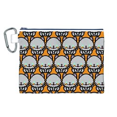 Sitpersian Cat Orange Canvas Cosmetic Bag (L)