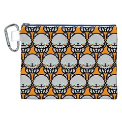 Sitpersian Cat Orange Canvas Cosmetic Bag (XXL)