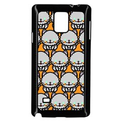 Sitpersian Cat Orange Samsung Galaxy Note 4 Case (Black)