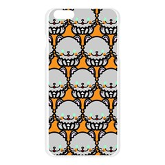 Sitpersian Cat Orange Apple Seamless iPhone 6 Plus/6S Plus Case (Transparent)