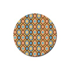 Round Color Rubber Round Coaster (4 pack)