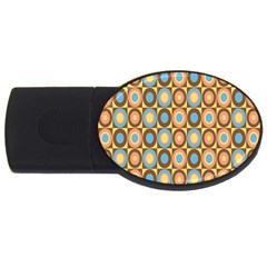 Round Color USB Flash Drive Oval (1 GB)