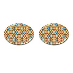 Round Color Cufflinks (Oval)