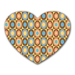 Round Color Heart Mousepads