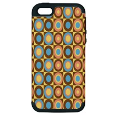 Round Color Apple iPhone 5 Hardshell Case (PC+Silicone)