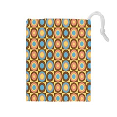Round Color Drawstring Pouches (Large)