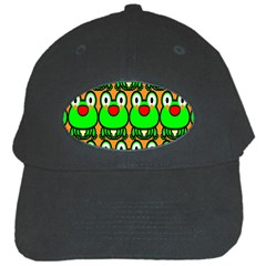 Sitfrog Orange Face Green Frog Copy Black Cap
