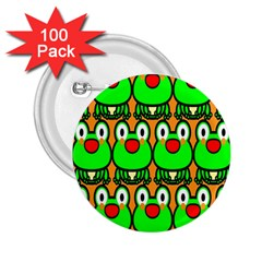 Sitfrog Orange Face Green Frog Copy 2.25  Buttons (100 pack)