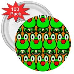 Sitfrog Orange Face Green Frog Copy 3  Buttons (100 pack)