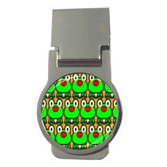 Sitfrog Orange Face Green Frog Copy Money Clips (Round)