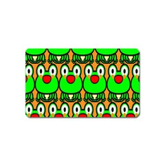 Sitfrog Orange Face Green Frog Copy Magnet (Name Card)