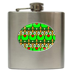 Sitfrog Orange Face Green Frog Copy Hip Flask (6 oz)