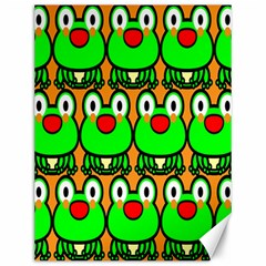 Sitfrog Orange Face Green Frog Copy Canvas 12  x 16