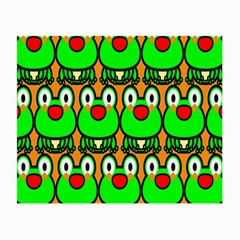 Sitfrog Orange Face Green Frog Copy Small Glasses Cloth (2-Side)