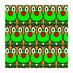 Sitfrog Orange Face Green Frog Copy Medium Glasses Cloth (2-Side)