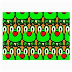 Sitfrog Orange Face Green Frog Copy Large Glasses Cloth