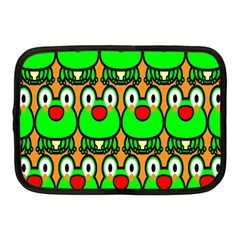 Sitfrog Orange Face Green Frog Copy Netbook Case (Medium)