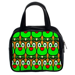 Sitfrog Orange Face Green Frog Copy Classic Handbags (2 Sides)