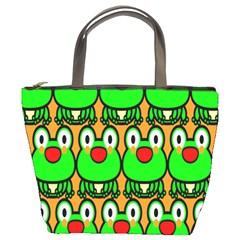 Sitfrog Orange Face Green Frog Copy Bucket Bags