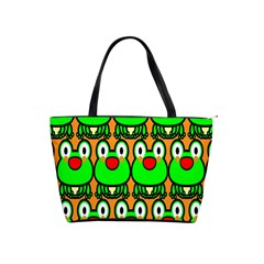 Sitfrog Orange Face Green Frog Copy Shoulder Handbags