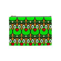 Sitfrog Orange Face Green Frog Copy Cosmetic Bag (Medium)