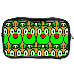 Sitfrog Orange Face Green Frog Copy Toiletries Bags 2-Side