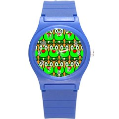 Sitfrog Orange Face Green Frog Copy Round Plastic Sport Watch (S)