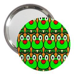 Sitfrog Orange Face Green Frog Copy 3  Handbag Mirrors