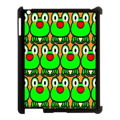 Sitfrog Orange Face Green Frog Copy Apple iPad 3/4 Case (Black)