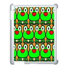 Sitfrog Orange Face Green Frog Copy Apple iPad 3/4 Case (White)