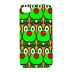 Sitfrog Orange Face Green Frog Copy Apple iPhone 4/4S Hardshell Case with Stand