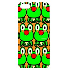 Sitfrog Orange Face Green Frog Copy Apple iPhone 5 Hardshell Case with Stand