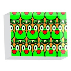 Sitfrog Orange Face Green Frog Copy 5 x 7  Acrylic Photo Blocks
