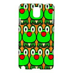 Sitfrog Orange Face Green Frog Copy Samsung Galaxy Note 3 N9005 Hardshell Case