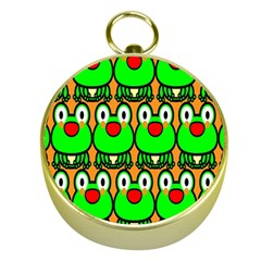 Sitfrog Orange Face Green Frog Copy Gold Compasses