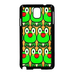 Sitfrog Orange Face Green Frog Copy Samsung Galaxy Note 3 Neo Hardshell Case (Black)