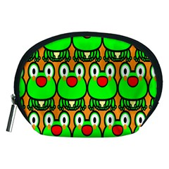 Sitfrog Orange Face Green Frog Copy Accessory Pouches (Medium)