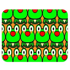 Sitfrog Orange Face Green Frog Copy Double Sided Flano Blanket (Medium)
