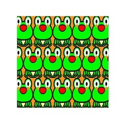 Sitfrog Orange Face Green Frog Copy Small Satin Scarf (Square)