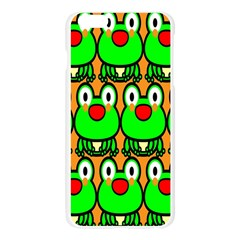 Sitfrog Orange Face Green Frog Copy Apple Seamless iPhone 6 Plus/6S Plus Case (Transparent)
