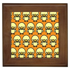 Small Duck Yellow Framed Tiles