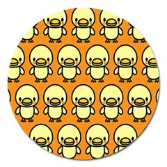 Small Duck Yellow Magnet 5  (Round)