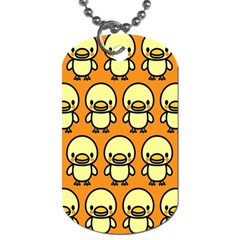 Small Duck Yellow Dog Tag (One Side)