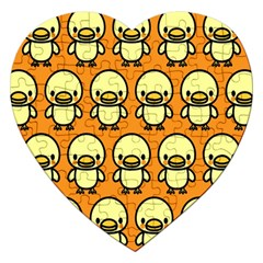 Small Duck Yellow Jigsaw Puzzle (Heart)